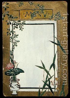 Menu with Bamboo by Christopher Grant La Farge - Reproduction Oil Painting