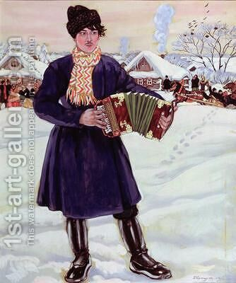 Shrove tide 2 by Boris Kustodiev - Reproduction Oil Painting