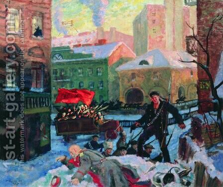 February 27 2 by Boris Kustodiev - Reproduction Oil Painting