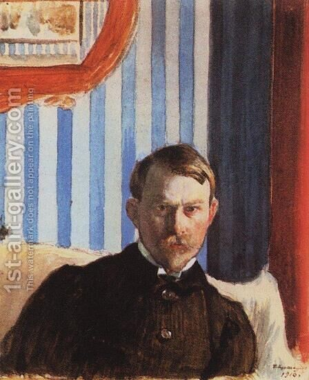 Self Portrait 2 by Boris Kustodiev - Reproduction Oil Painting
