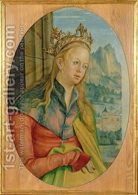 St Catherine of Alexandria by Hans Suess Kulmbach - Reproduction Oil Painting