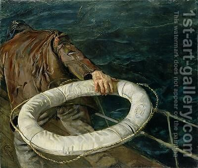Man Overboard by Christian Krohg - Reproduction Oil Painting