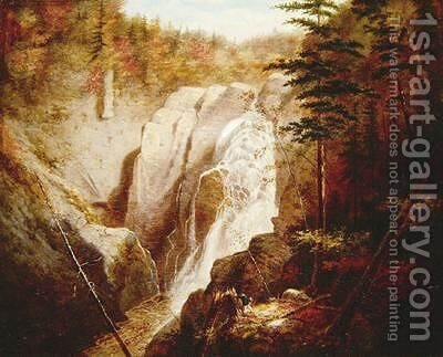 St Annes Falls Canada by Cornelius Krieghoff - Reproduction Oil Painting