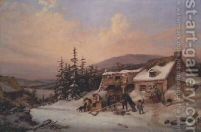 Quebec by Cornelius Krieghoff - Reproduction Oil Painting