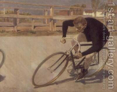 The Cyclist by Constantin Kousnetzov - Reproduction Oil Painting
