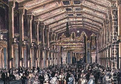 Sophien Bad Saal a court ball in the Hofburg Palace Vienna by (after) Kollarz, Franz - Reproduction Oil Painting