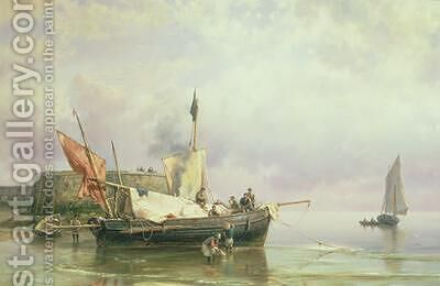 Marine Scene by Hermanus Koekkoek - Reproduction Oil Painting