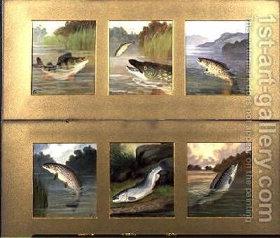 Selection of Fish Paintings by A. Roland Knight - Reproduction Oil Painting