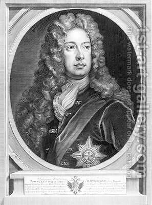 John Churchill 1650-1722 1st Duke of Marlborough by (after) Kneller, Sir Godfrey - Reproduction Oil Painting