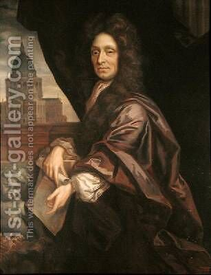 Sir Christopher Wren 1632-1723 by (after) Kneller, Sir Godfrey - Reproduction Oil Painting