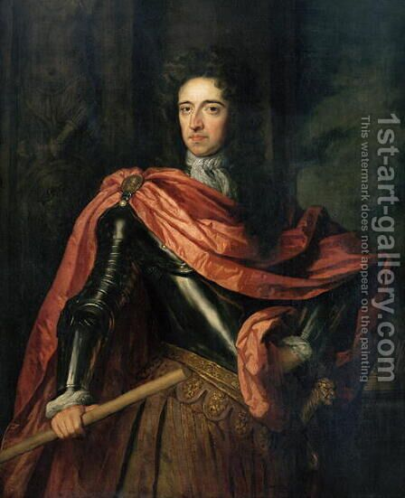 Portrait of William III 1650-1702 of Orange by (after) Kneller, Sir Godfrey - Reproduction Oil Painting
