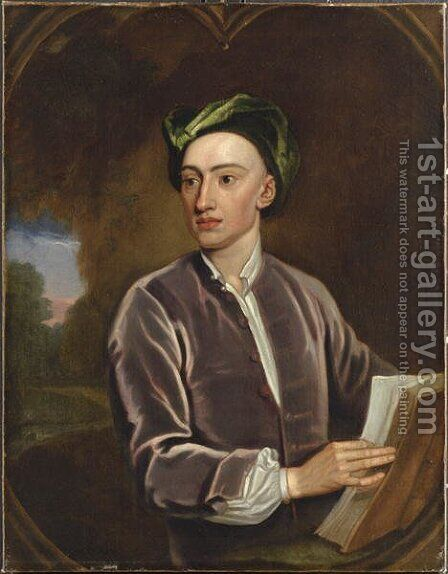 Portrait of Alexander Pope by (after) Kneller, Sir Godfrey - Reproduction Oil Painting