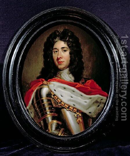 Portrait of Prince Eugene de Savoie 1663-1736 by (after) Kneller, Sir Godfrey - Reproduction Oil Painting