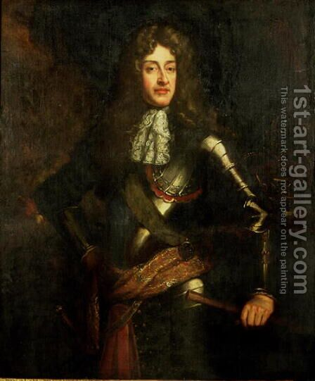 Portrait of King James II 1633-1701 In Armour by (after) Kneller, Sir Godfrey - Reproduction Oil Painting