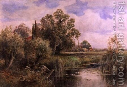The Backwater Wargrave on Thames by Henry John Kinnaird - Reproduction Oil Painting