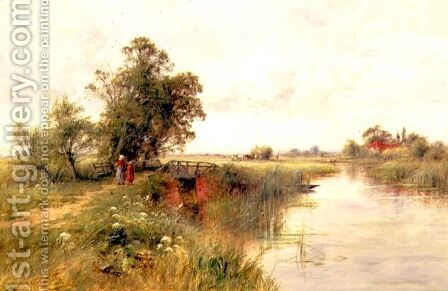 On the Thames near Wallingford by Henry John Kinnaird - Reproduction Oil Painting