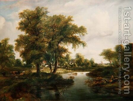 River Scenes by Herbert King - Reproduction Oil Painting