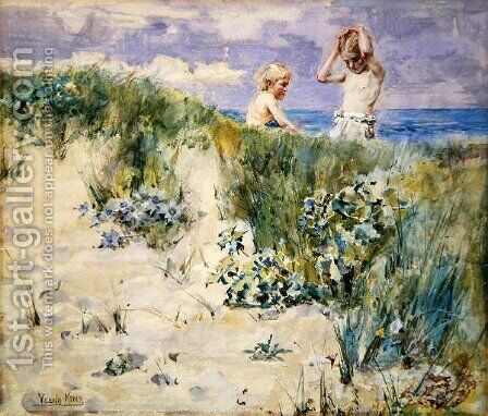 On the Dunes by Henry John Yeend King - Reproduction Oil Painting