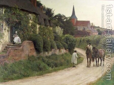 Evening in the Village by Henry John Yeend King - Reproduction Oil Painting