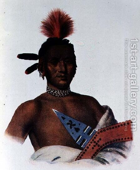 Moa Na Hon Ga or Great Walker an Iowa Chief by (after) King, Charles Bird - Reproduction Oil Painting
