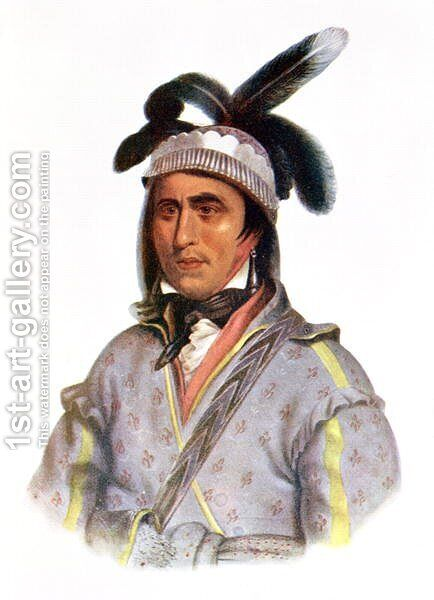 Opothle Yoholo a Creek Chief by (after) King, Charles Bird - Reproduction Oil Painting