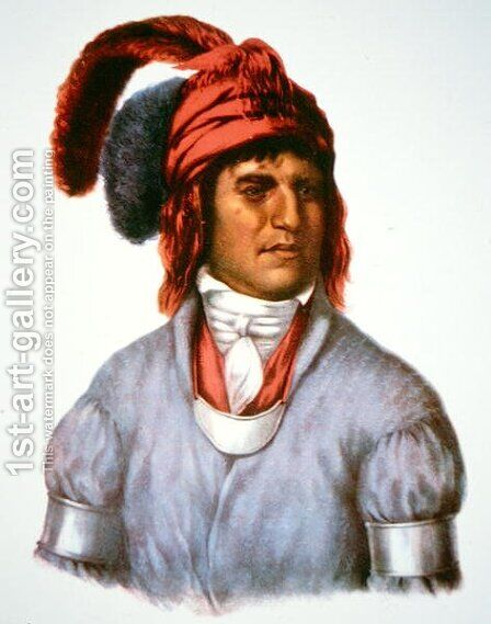 Ledagie a chief of the Creek people by (after) King, Charles Bird - Reproduction Oil Painting