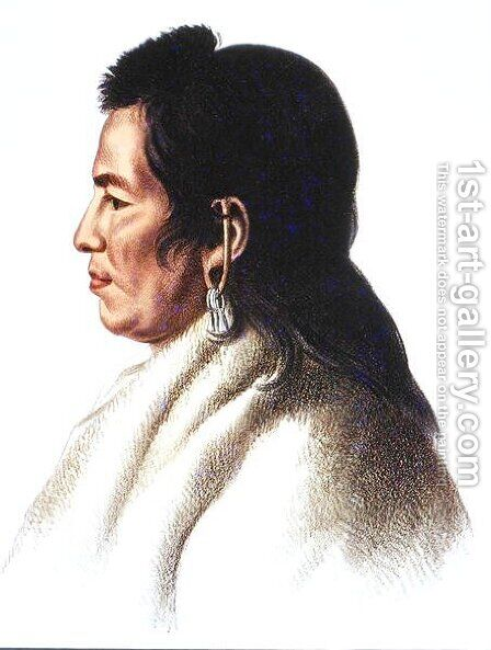 Shahaka Big White chief of the Mandan people by (after) King, Charles Bird - Reproduction Oil Painting