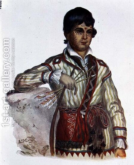Mistipee Son of Yoholo Micco by (after) King, Charles Bird - Reproduction Oil Painting