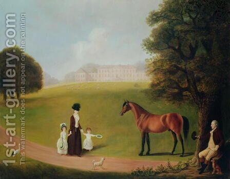 Earl and Countess of Ossory and their Children at Ampthill Park by Benjamin Killingbeck - Reproduction Oil Painting
