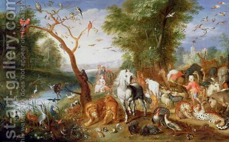 The Animals entering Noahs Ark by Jan van, the Younger Kessel - Reproduction Oil Painting