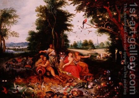 The Four Elements by Jan van Kessel - Reproduction Oil Painting