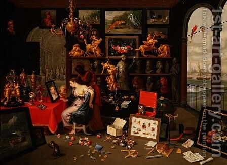 Venus at her Toilet by Jan van Kessel - Reproduction Oil Painting