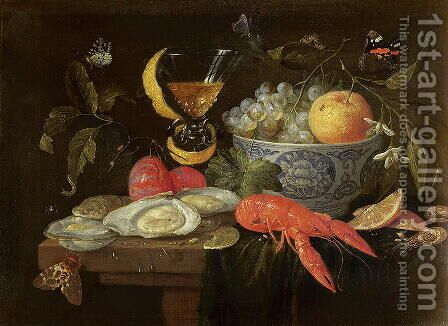 Still Life with Fruit and Shell Fish by Jan van Kessel - Reproduction Oil Painting