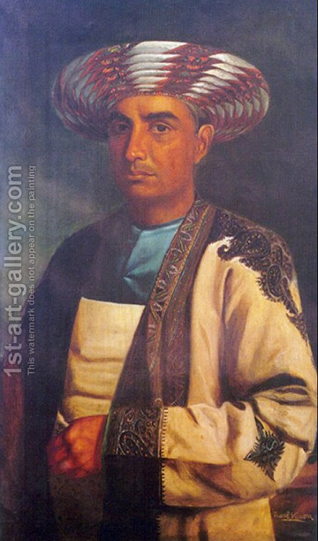 Nobleman from Central India by Raja Ravi Varma - Reproduction Oil Painting