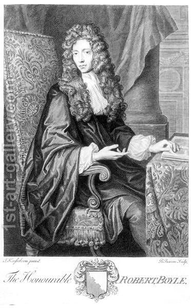The Honorable Robert Boyle 1627-91 by (after) Kerseboom, Johannes - Reproduction Oil Painting
