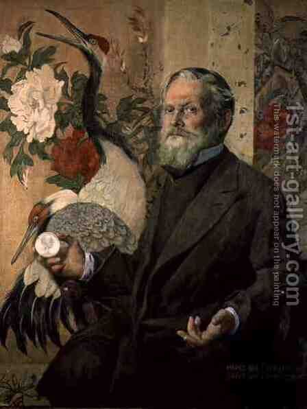Portrait of Frank Brangwyn 1867-1956 by James Kerr-Lawson - Reproduction Oil Painting