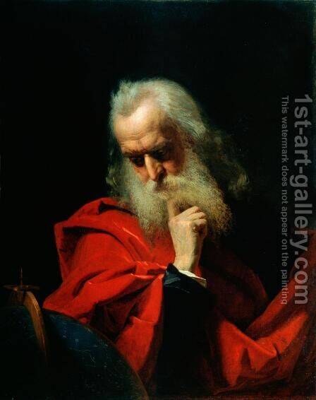 Galileo Galilei 1564-1642 by Ivan Petrovich Keler-Viliandi - Reproduction Oil Painting