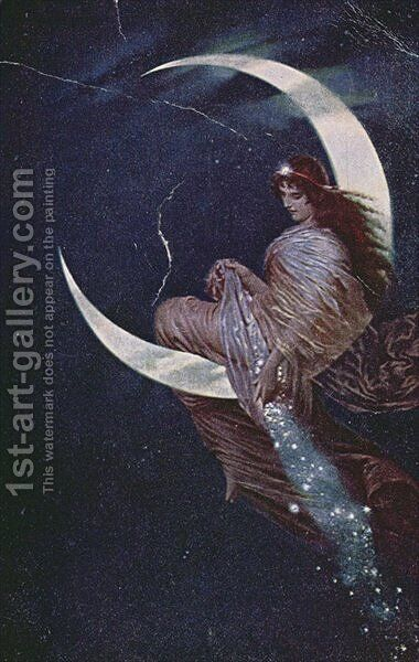 The Fairy of the moon by Hermann Kaulbach - Reproduction Oil Painting