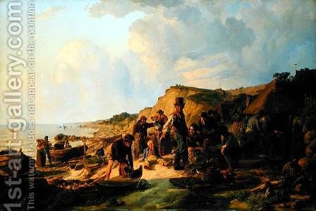 The Homecoming of the Fisherman at Probsteier by Hermann Kauffmann - Reproduction Oil Painting