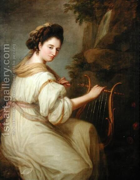 Portrait of Jemima Ord by Angelica Kauffmann - Reproduction Oil Painting