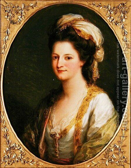 Portrait of a Woman by Angelica Kauffmann - Reproduction Oil Painting