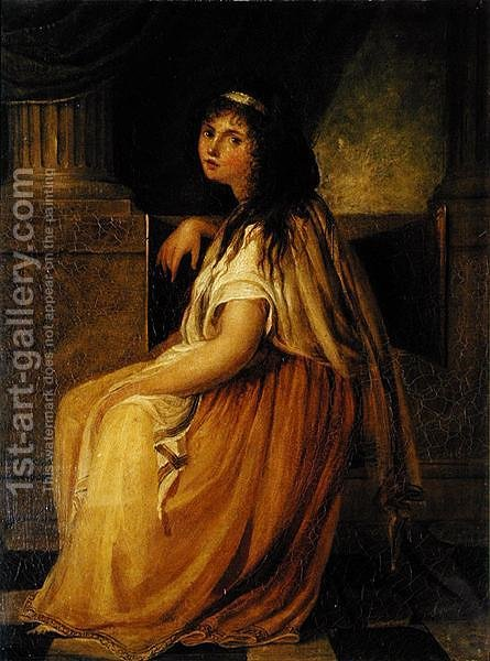 Lady Hamilton in costume for her Greek Attitudes by Angelica Kauffmann - Reproduction Oil Painting