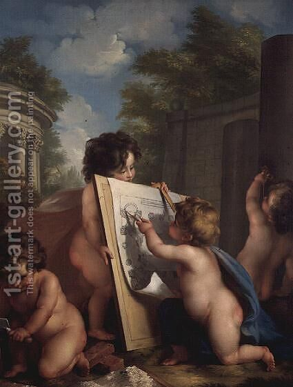 Allegory of Architecture by Angelica Kauffmann - Reproduction Oil Painting
