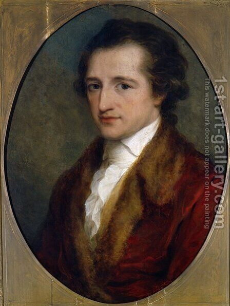 Johann Wolfgang von Goethe by Angelica Kauffmann - Reproduction Oil Painting