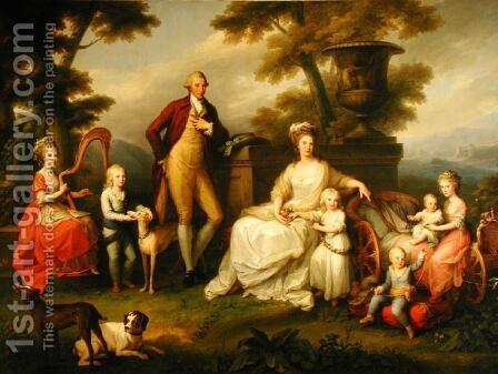 Ferdinand IV 1851-1825 King of Naples and his Family by Angelica Kauffmann - Reproduction Oil Painting