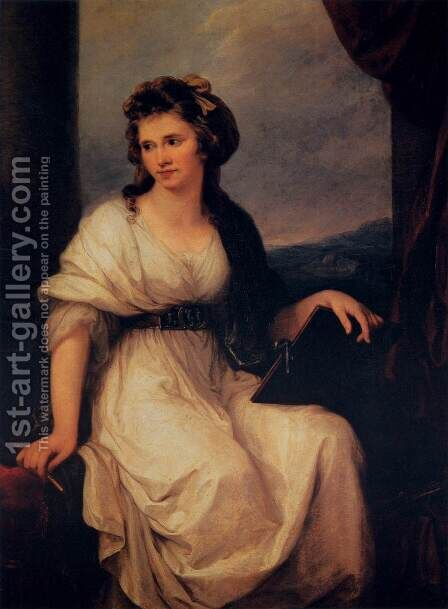 Self Portrait 2 by Angelica Kauffmann - Reproduction Oil Painting