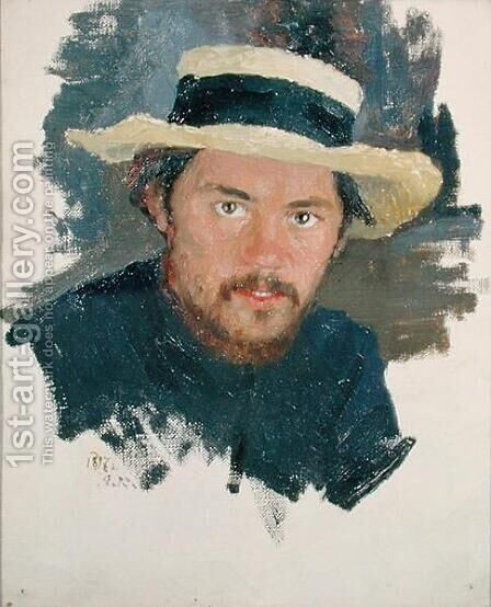 Self Portrait by Jakoff Jakovlevitch Kalinitchenko - Reproduction Oil Painting
