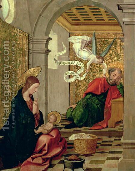 The Dream of St Joseph by Borgona Juan de - Reproduction Oil Painting