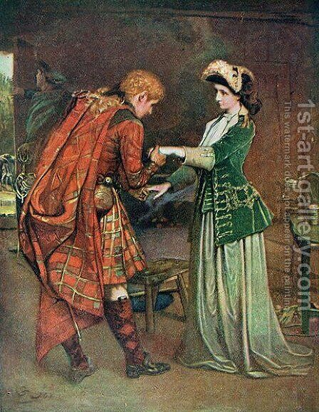 Prince Charlies 1720-88 farewell to Flora Macdonald 1722-90 by (after) Joy, George William - Reproduction Oil Painting