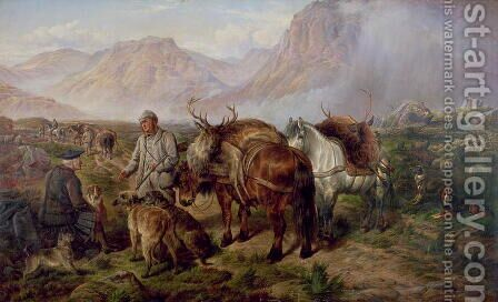 Bringing Home the Deer by Charles Jones - Reproduction Oil Painting